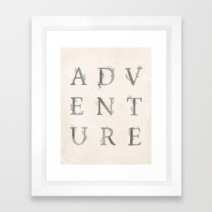 ADVENTURE Framed Art Print by Kelli Murray