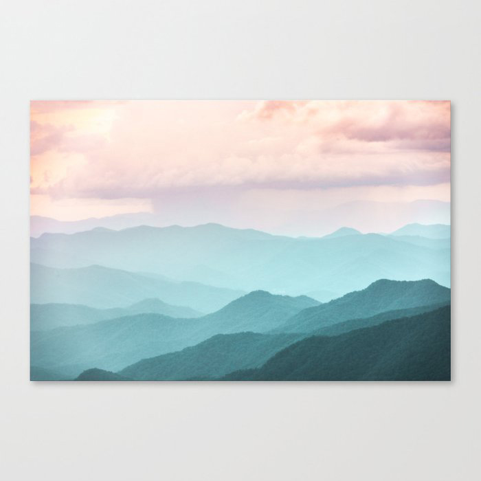 Smoky Mountain National Park Sunset Layers II Canvas Wall Art Print by Cascadia