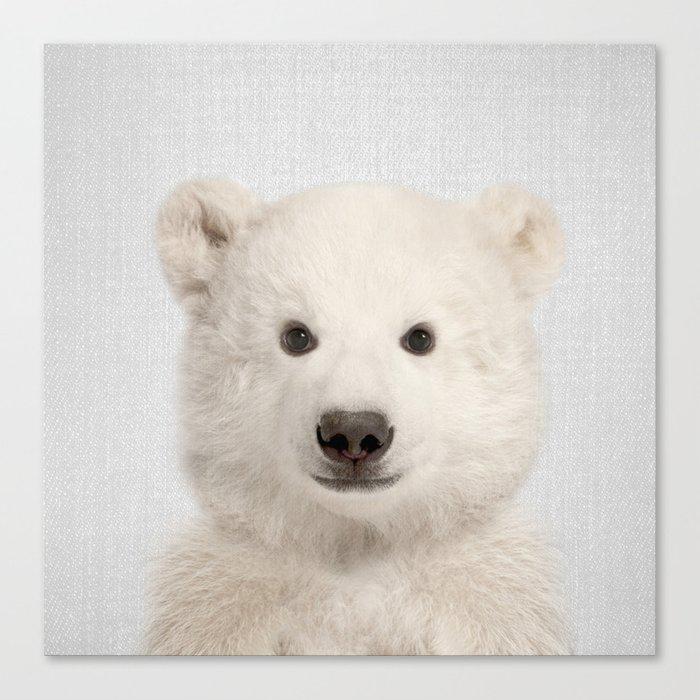 Polar Bear - Colorful Canvas Wall Art Print by Gal Design