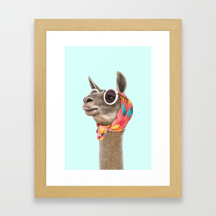 FASHION LAMA Framed Art Print by Paul Fuentes