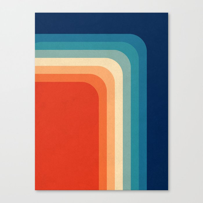 Retro 70s Color Palette III Canvas Print by Alisa Galitsyna