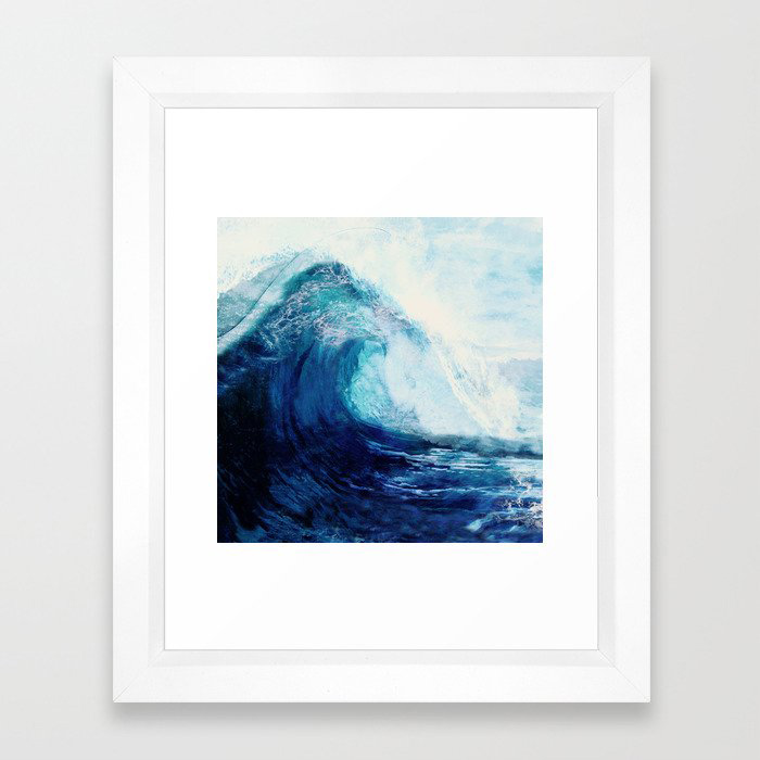 Waves II Framed Art Print by Nadja