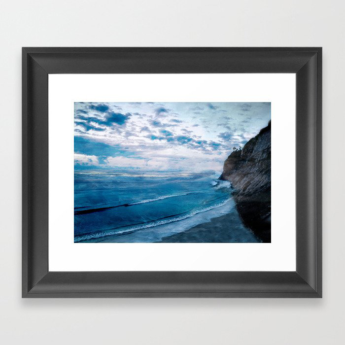 Coast 9 Framed Art Print by Andreas12