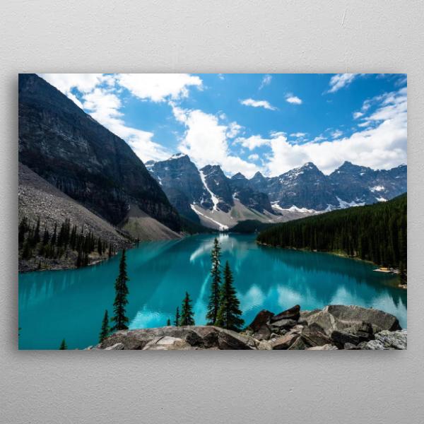 Open Lake View Mountain Metal Wall Art Prints by Daniel Page
