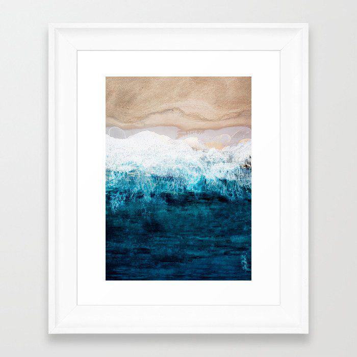 Watercolour Summer beach III Framed Art Print by Nadja