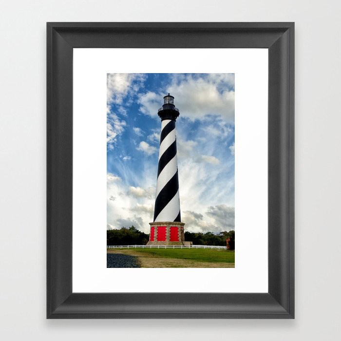 Cape Hatteras Lighthouse Coastal Landscape Photograph Framed Art Print by PIPA Wall Art & Home Decor