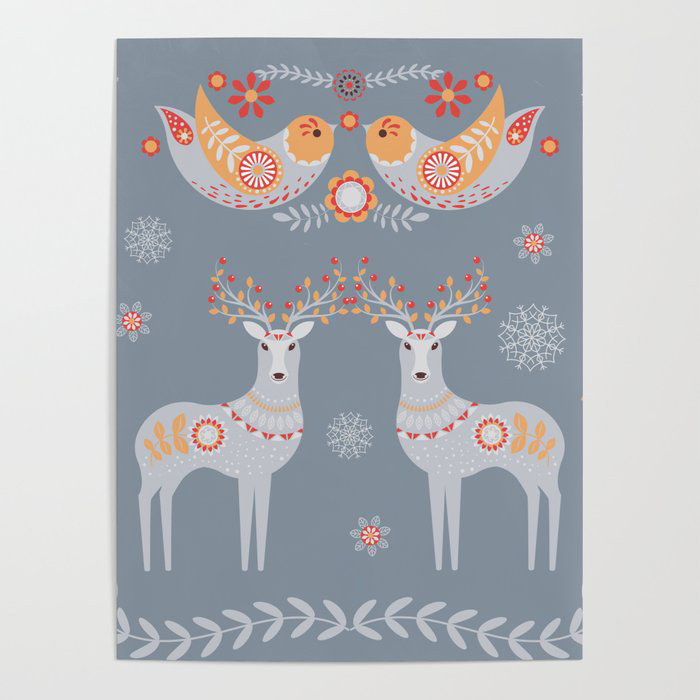 Nordic Winter Poster by LaVieClaire