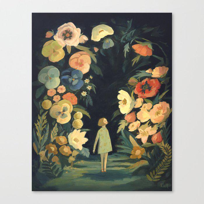 The Night Garden Canvas Print by emilywinfieldmartinart