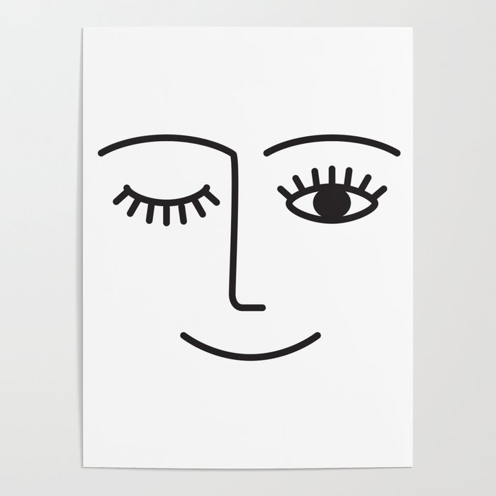 Wink Poster by Summer Sun Home Art