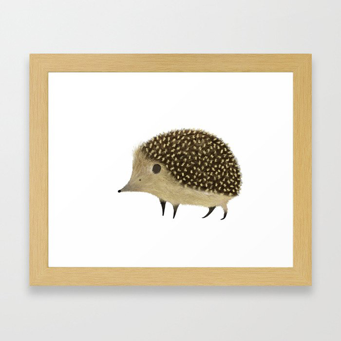 Betty The Hedgehog Framed Art Print by Amanda Jayne Illustration
