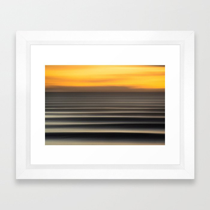 East Coast Lines Framed Art Print by Rambo Estrada