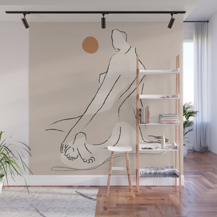 Nude 2 Wall Mural by ThingDesign