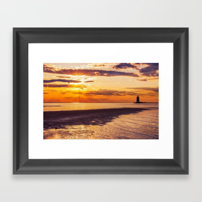 Coastal Landscape Photograph Cape Henlopen at Sunset - Beach Art Framed Art Print by PIPA Wall Art & Home Decor
