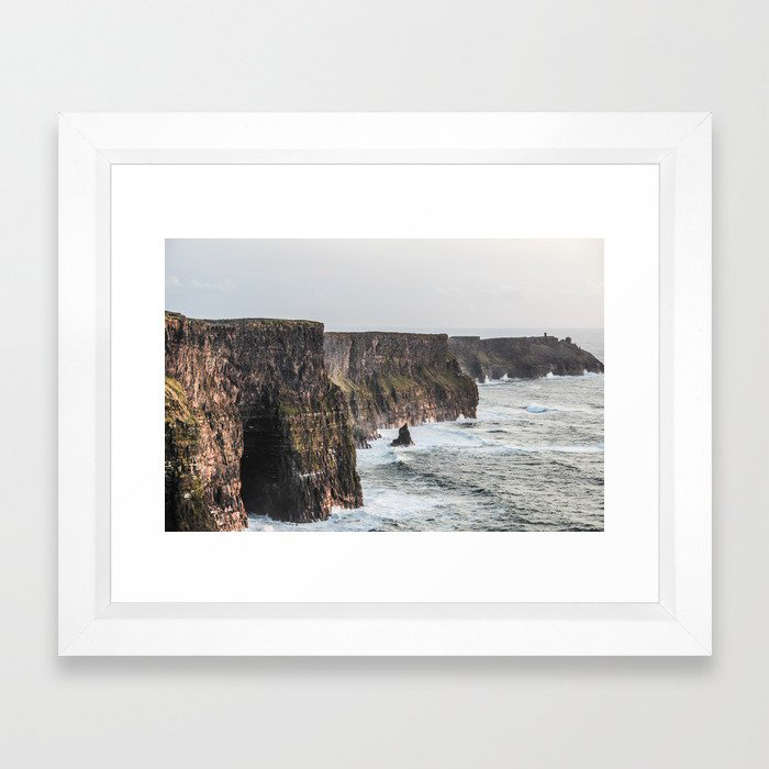 Travel to Ireland: Cliffs of Moher Framed Art Print by E.Marlow