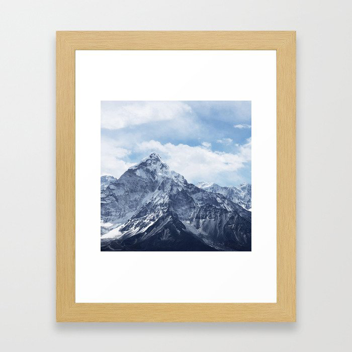 Snowy Mountain Peaks Framed Wall Art Print by Andreas12