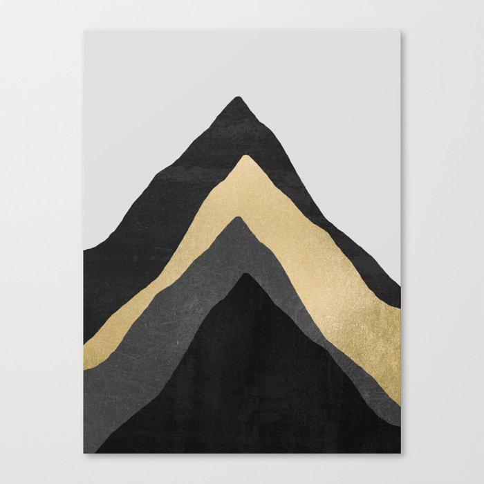 Four Mountains Canvas Wall Art Print by Elisabeth Fredriksson