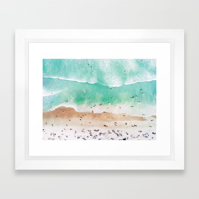 Beach Mood Framed Art Print by Gal Design