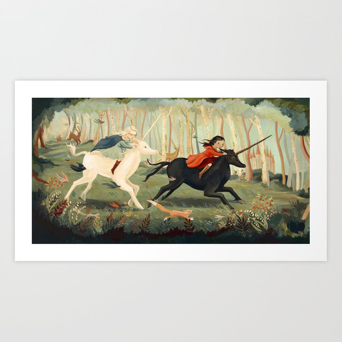 The Unicorn Dream by Emily Winfield Martin Art Print by Emily Winfield Martin