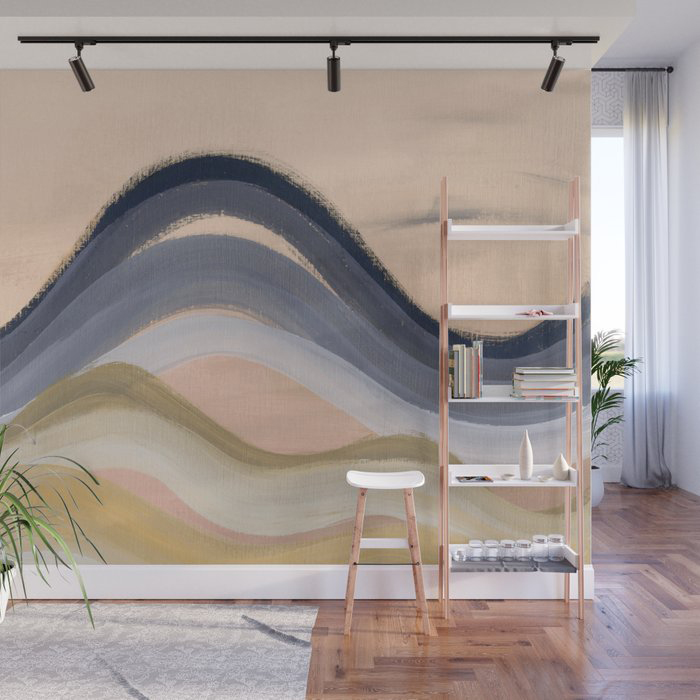 Minimal mountains Wall Mural by Carole Urban