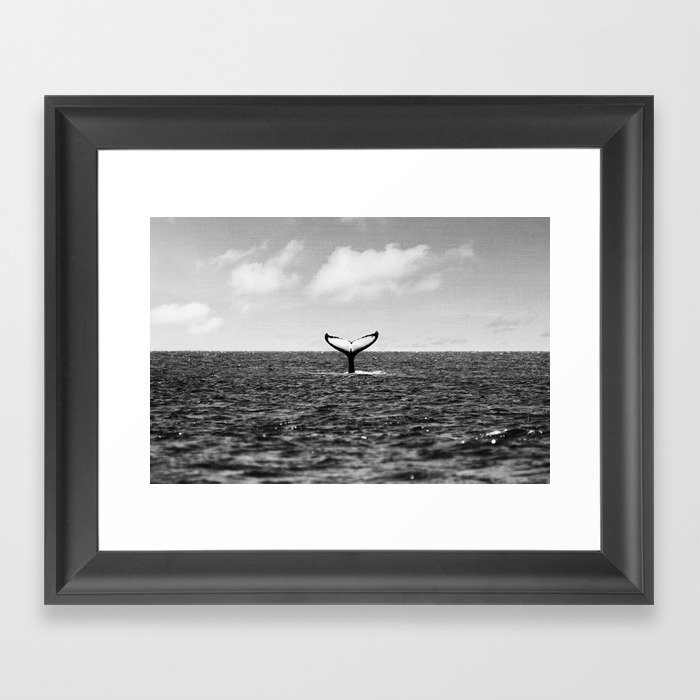 Whale Tail Framed Art Print by Gal Design