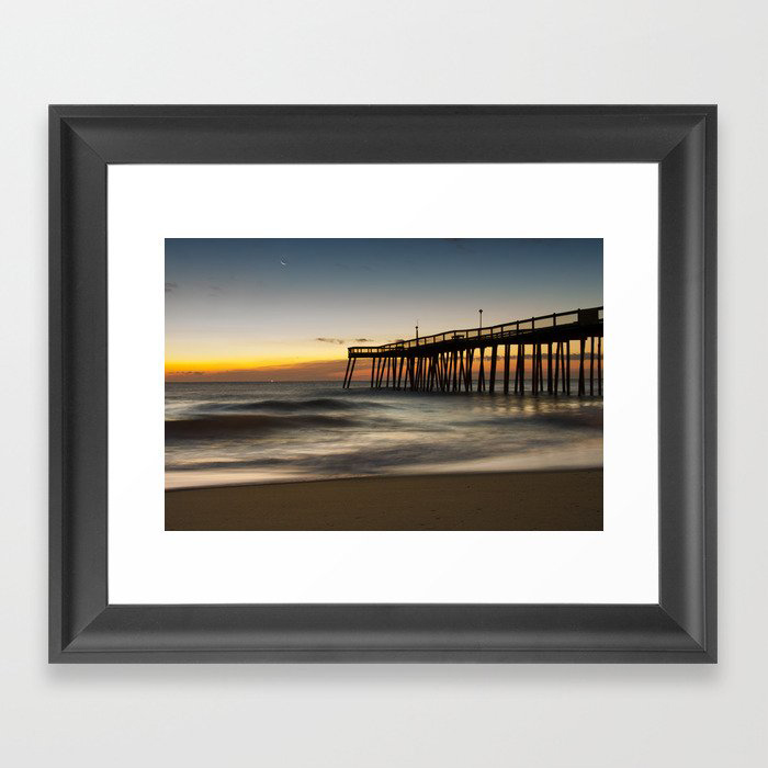 Motion of the Ocean - Sunrise Coastal Landscape Photo Framed Art Print by PIPA Wall Art & Home Decor