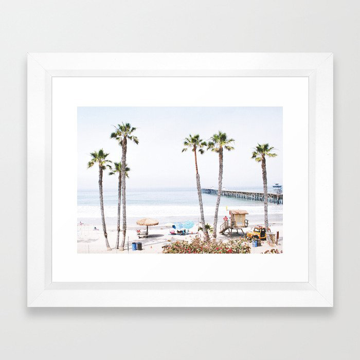 Palm Beach Framed Art Print by Gal Design