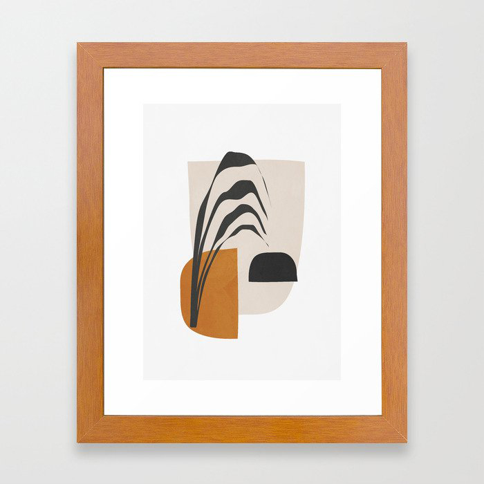 Abstract Shapes 3 Framed Art Print by ThingDesign