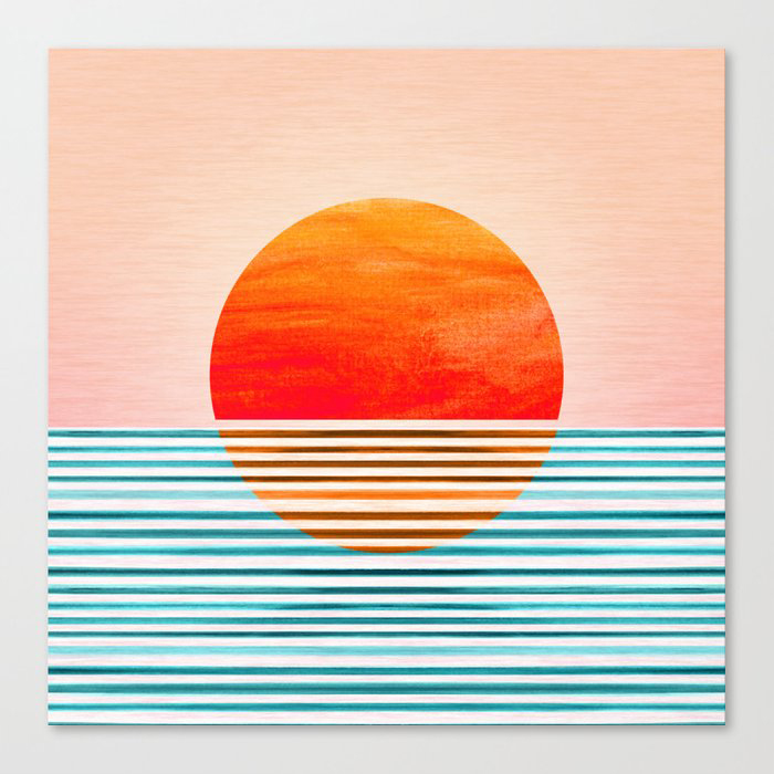 Minimalist Sunset III Canvas Print by moderntropical