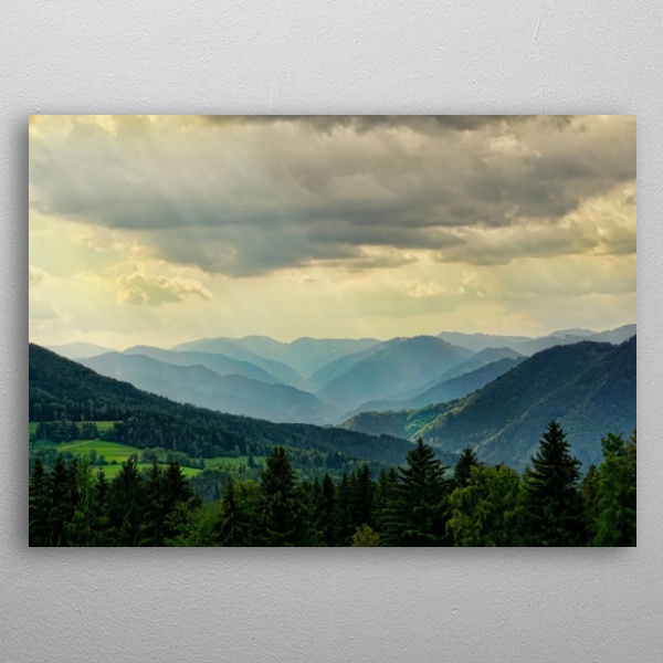 Landscape 1 Metal Wall Art Print by Michał Karbowiak