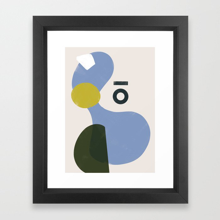 Branded Abstract 3 Framed Art Print by Domio