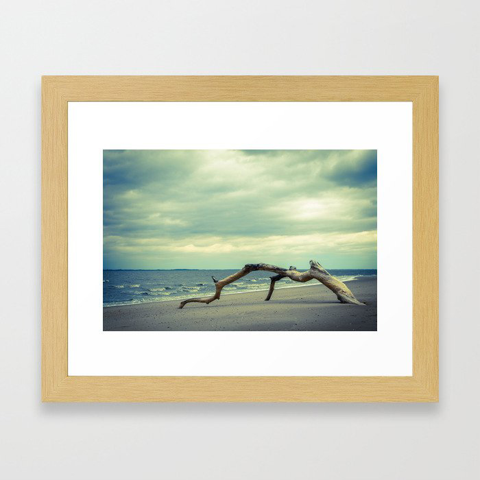 Coastal Landscape Photograph The Cove - Beach Framed Art Print by PIPA Wall Art & Home Decor