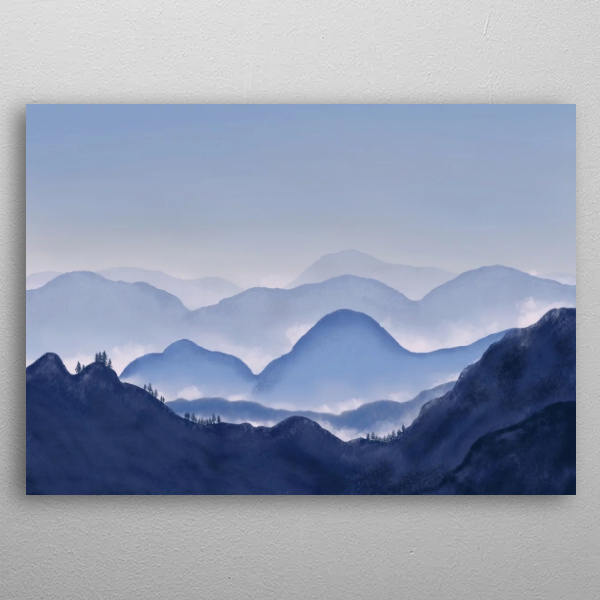 A Peaceful Mountain Landscape by Rob Duits