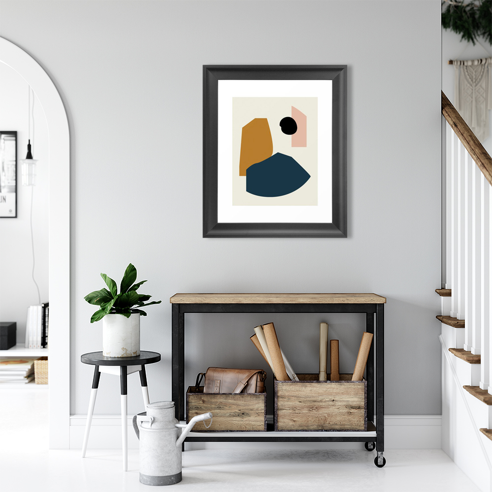 Abstract Minimalist Artwork Shape study #1 - Lola Collection Framed Art Print by mpgmb
