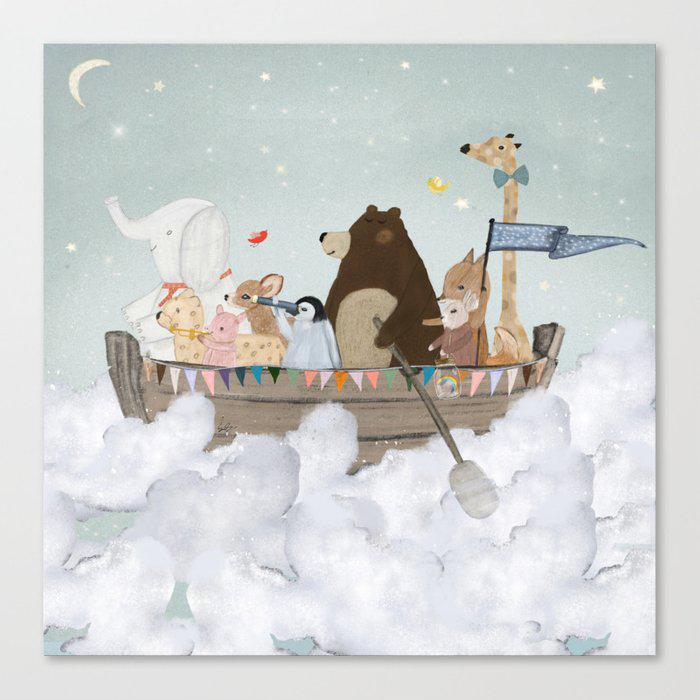 cloud sailers Canvas Print by bri.buckley