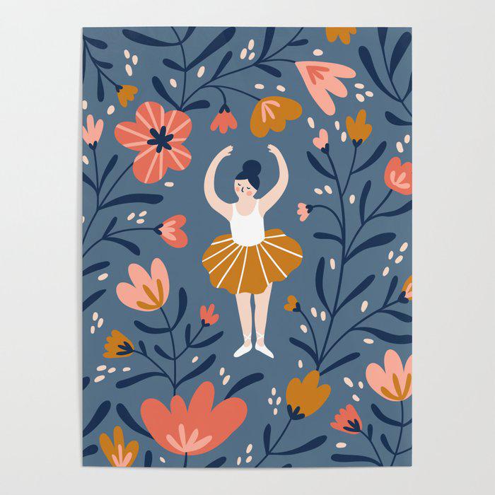 Waltz of the flowers Poster by Alenka Karabanova