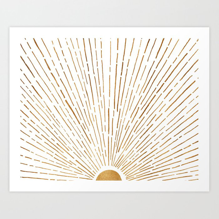 Let The Sunshine In Art Print by moderntropical