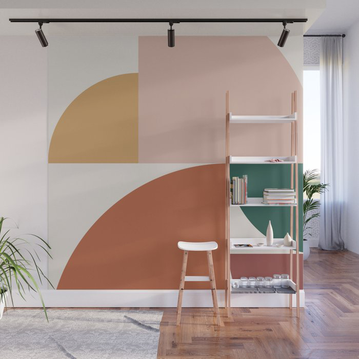 Abstract Geometric 10 Wall Mural by The Old Art Studio