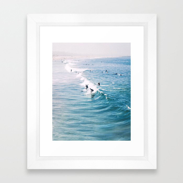 Catch A Wave Framed Art Print by Gal Design