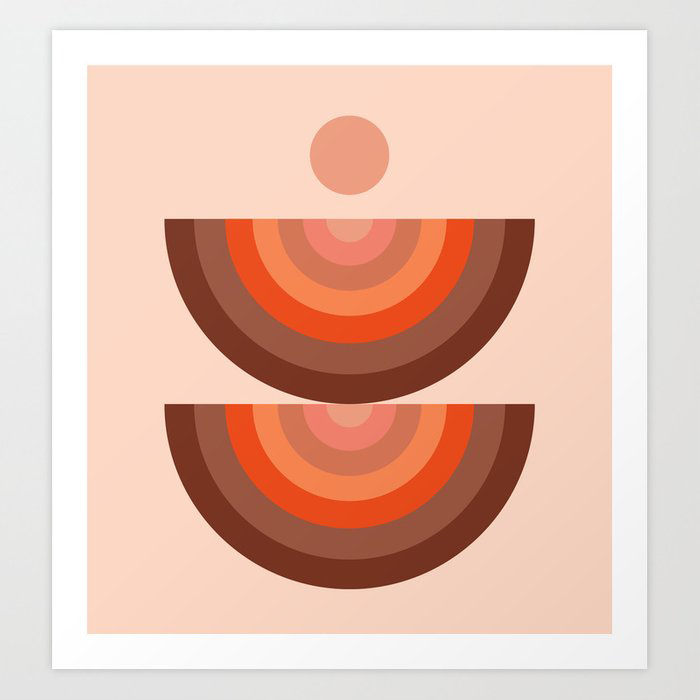 Abstraction_SUN_Rainbow_Minimalism_001 Art Print by forgetme