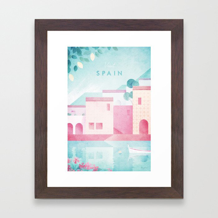 Spain Framed Art Print by Travel Poster Co.