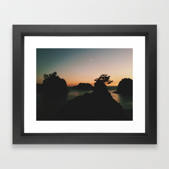 Southern Oregon Coast Sunset Framed Art Print by Kevin Russ