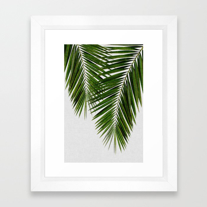 Palm Leaf II Framed Art Print by Orara Studio