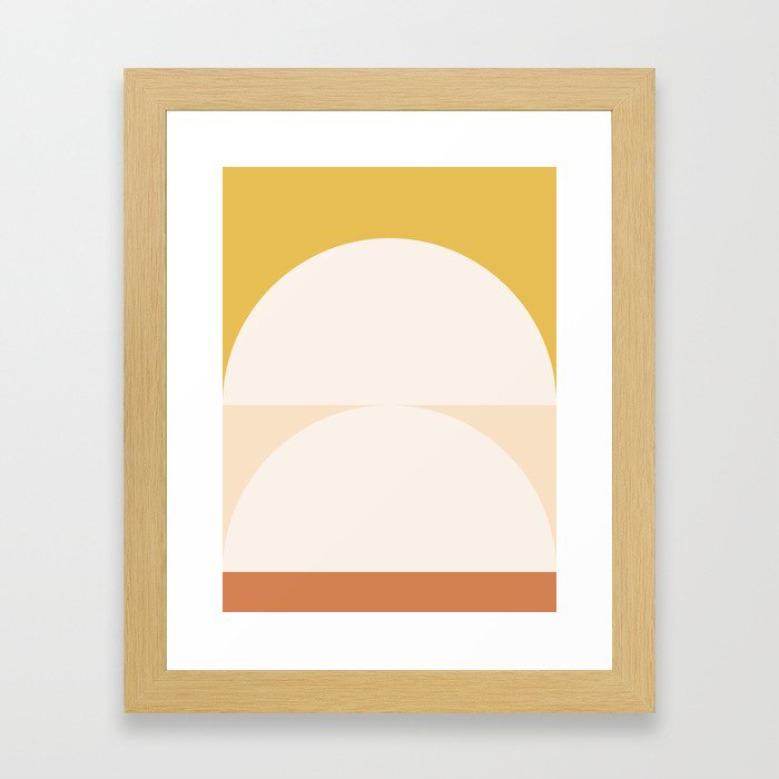 Abstract Geometric 01 Framed Art Print by The Old Art Studio