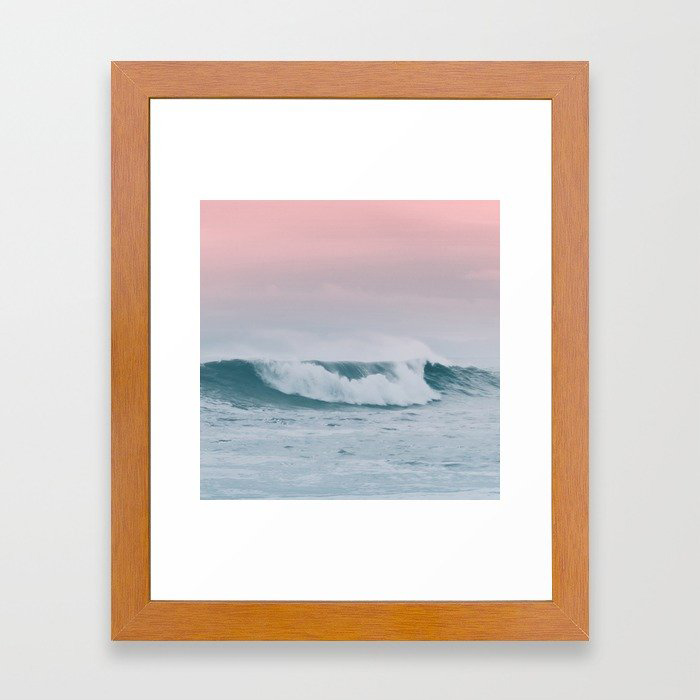 Pale ocean Framed Art Print by Glitch