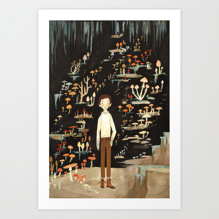 Ivo & His Mushrooms Art Print by Emily Winfield Martin