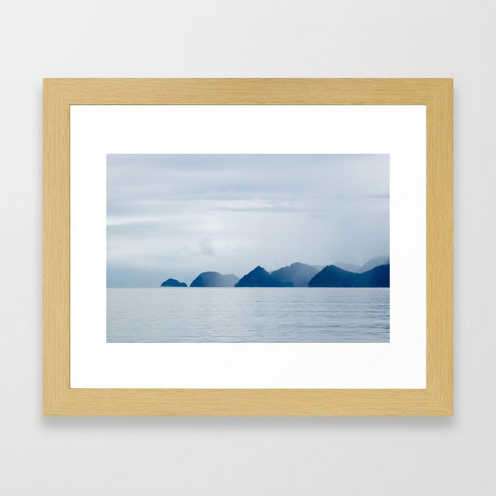 Mountains in the Mist Framed Art Print by Nancy J's Photo Creations