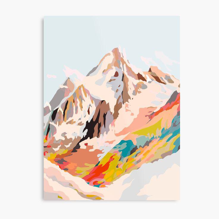 Glass Mountains Metal Print by Dansedelune