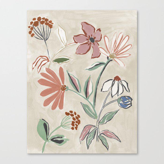 Monday Floral Canvas Print by Megan Galante