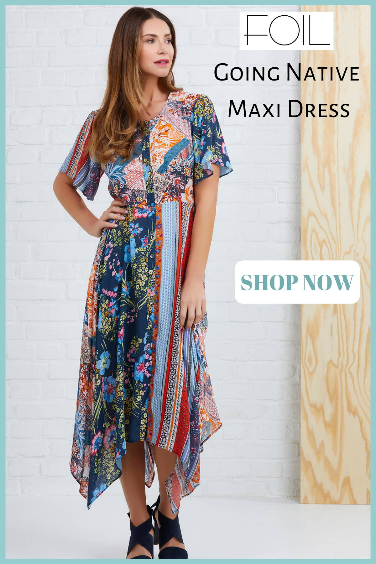 Foil - Going Native Maxi Dress - Pizazz Boutique