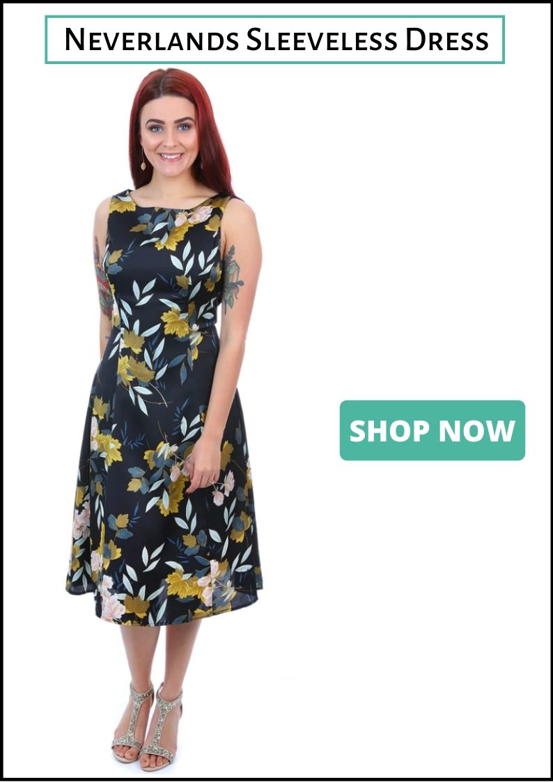 Jendi Cocktail dress - Floral Sleeveless Dress - Pizazz Boutique